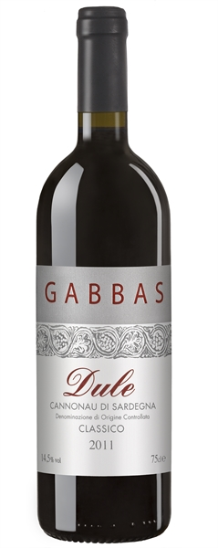 Gabbas, Dule Cannonau di Sardegna Classico, 2012