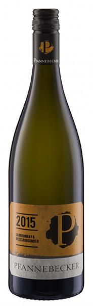 Pfannebecker, Chardonnay & Weissburgunder QbA trocken, 2016
